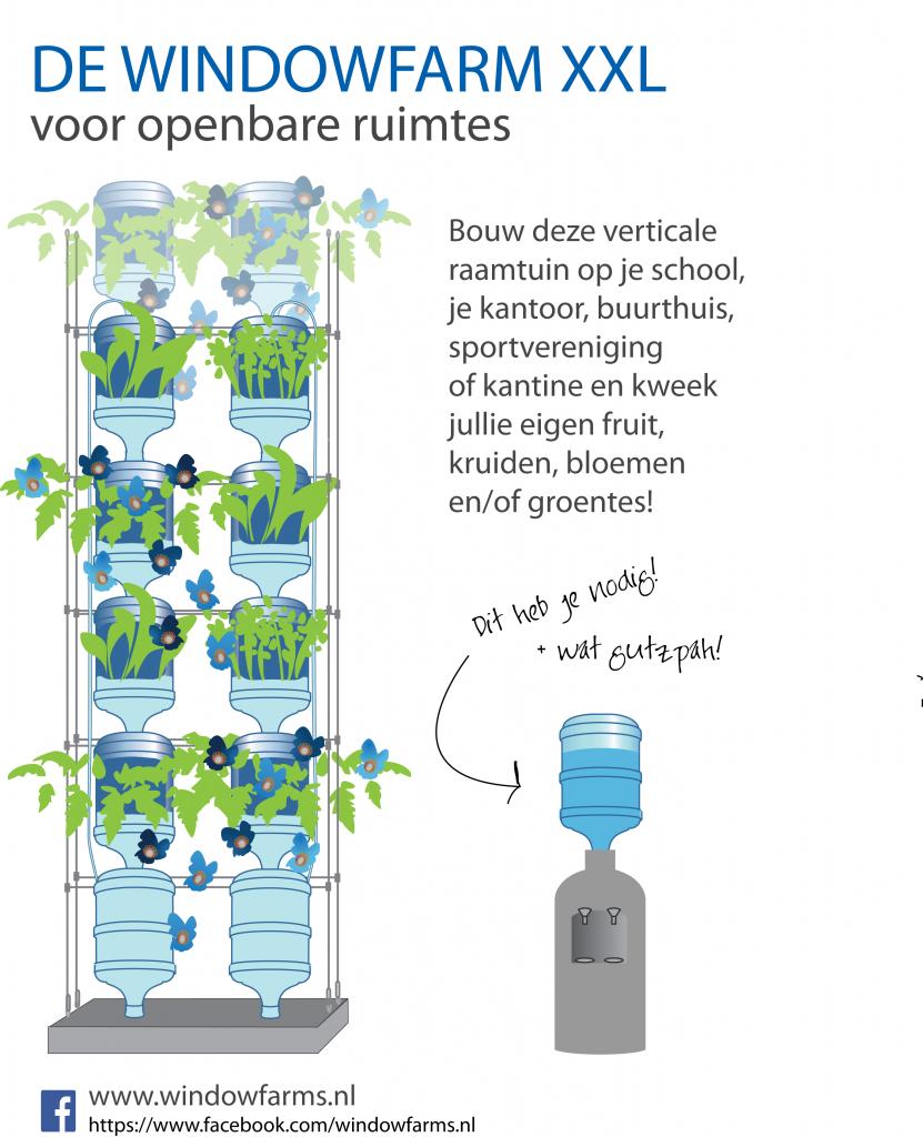 De Windowfarm XXL voor openbare ruimtes