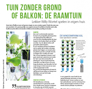 Het Windowfarm Project in Cashew Stadslandbouw Magazine